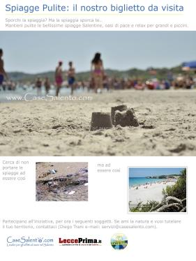 Locandina spiagge pulite: il nostro biglietto da visita