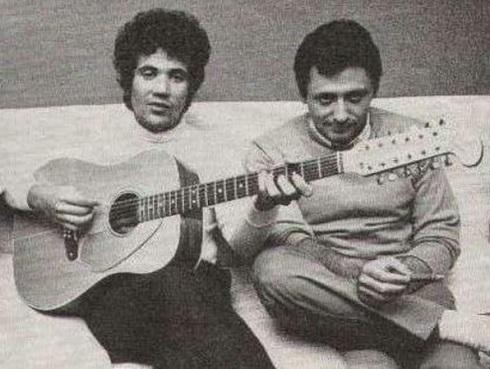Lucio Battisti e Giulio Rapetti Mogol
