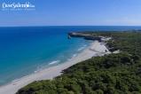 La spiaggia di Torre dell'Orso vista dal drone